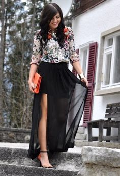 27 Trendy Maxi Skirts For This Fall
