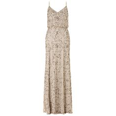 Love these for my bridesmaid dresses, 20's/Gatsby theme. Adrianna Papell Beaded Maxi Dress, Nude Online at johnlewis.com