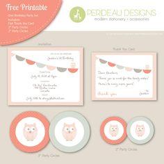 free owl party printables!