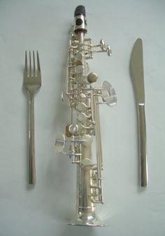 Soprillo saxophone...the world's smallest saxophone! This is swanky right here. Almost as cool as the piccolo!! :D