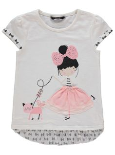 Girl Applique T-shirt Baby Girl Fashion, Kids Fashion, Toddler Outfits, Kids Outfits, Baby Kind, Kids Prints, Kids Wear, Kids And Parenting, Shirts For Girls