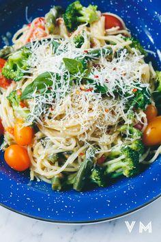One-Pot Vegan Pasta with Vegan Parmesan