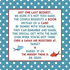 Dr Seuss Baby Shower Invitation & InsertDigital by LovedbyDesign, $20.00