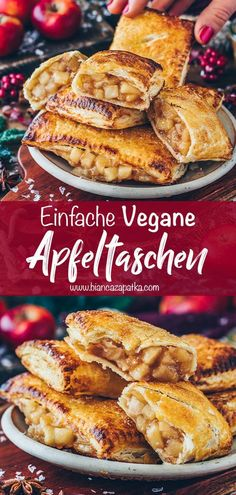 Apple Turnover Recipe, Apple Turnovers, Apple Pies, Apple Recipes, Vegan Recipes, Cooking Recipes, Vegan Sweets, Vegan Desserts, Healthy Sweets