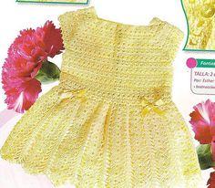 Yellow Sun Dress free crochet graph pattern
