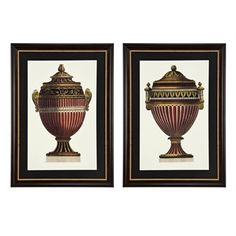 Prints Empire Urns Set Of 2