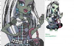 Frankie Stein (Monster High) cross stitch pattern