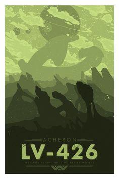 Alien Travel Poster: LV 426 - Matt Peppler