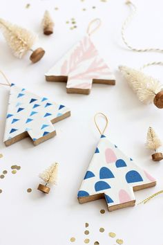 DIY Fabric Covered Tree Ornament | alice & lois for minted Julep