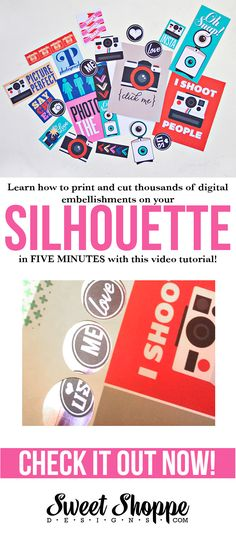 Here is an awesome video on how to print and cut digital elements on your Silhoutte cameo.