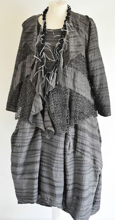 STUNNING DESIGNER LUPA PARACHUTE DRESS & JACKET SIZE L/XL STEEL in Clothes, Shoes & Accessories, Women's Clothing, Dresses | eBay