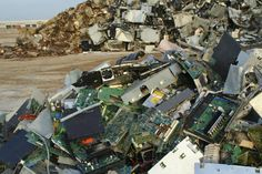 E waste Piling Up In A Place