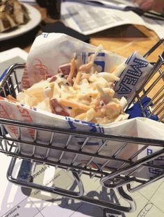 Coleslaw in a shopping trolley