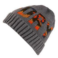 07df97dd6605a6 Superdry Mens Dark Grey Marl Turn Up Cuff Camo Beanie Hat One Size