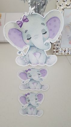 Cut-out for party decoration, available purple color and pink color Lavender Baby Showers, Baby Shower Purple, Baby Girl Shower Themes, Girl Baby Shower Decorations, Baby Shower Fun, Baby Shower Centerpieces, Elephant Baby Shower Cake, Baby Girl Elephant, Pink Elephant Party