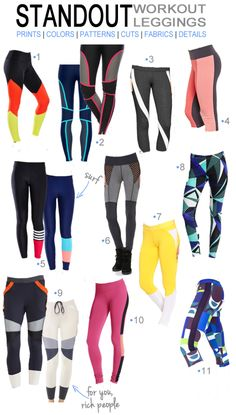 Fitness Style Picks: Standout Workout Leggings & Sweats - Pumps & Iron --- I want all of these Style Fitness, Gym Style, Moda Fitness, Fitness Fashion, Workout Style, Fitness Outfits, Fitness Clothing, Athletic Outfits, Sport Outfits