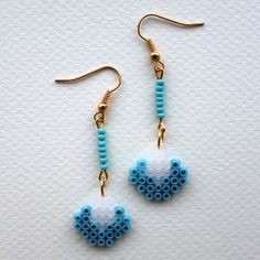 Weather jewellery earings hama beads by GiveMeColours