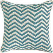 $35 Embellished Ikat Zigzag Pillow - Teal