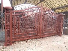 Garden Gates 139948: Nice Cast Iron Victorian Style 17 Hand Made Driveway Gates - Gate#14 Posts -> BUY IT NOW ONLY: $7500 on eBay!