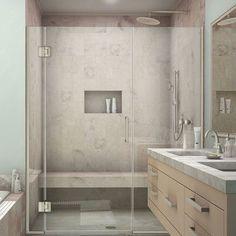 """DreamLine Unidoor-X 47.5"""" x 72"""" Hinged Shower Door Trim Finish:"""