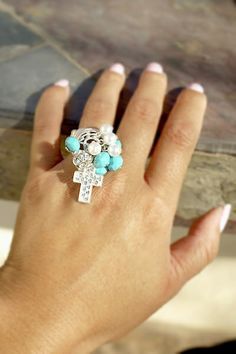 Cross Cluster Stretch Ring from Ava Adorn