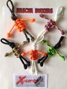 Rescue Buddies Paracord People Kit Make 5 Rescue Buddies Rescue Buddies pack more cord than you think. The secret is the 7 inner strands! 35″ x 7 plus the outter cover to give you a total o…