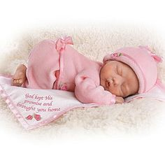 God Kept His Promise And Brought You Home Lifelike Newborn Baby Doll: So Truly Real - Realistic Baby Dolls