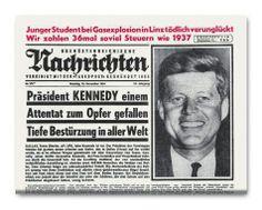 Als John F. Kennedy ermordet wurde: Die Titelseite der OÖN. Mehr dazu hier: http://www.nachrichten.at/nachrichten/politik/aussenpolitik/50-Jahre-Attentat-auf-JFK-Faszination-und-Trauma;art391,1239785 (Bild: OÖN Archiv)