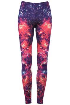 "Romwe.com ""Burning Fire"" Galaxy Leggings  $25.93  #romwe"