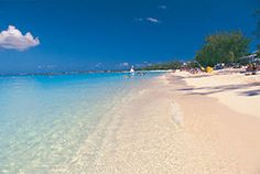 Seven Mile Beach on Grand Cayman, Cayman Islands. If you like walking on the beach, it will keep you entertained for hours.