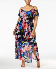 079d910f538 City Chic Trendy Plus Size Cold-Shoulder Maxi Dress Plus Sizes - Dresses -  Macy s