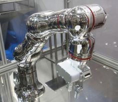 Kawasaki Heavy Industries' robot experiments with drugs and bathes in hydrogen peroxide gas. Read this article by Tim Hornyak on CNET. Industrial Robots, Industrial Design, Kawasaki Heavy Industries, Robot Arm, Kitchen Aid Mixer, Tech Gadgets, Espresso Machine, Color Schemes, Coffee Maker