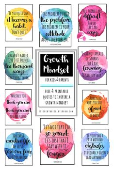 Growth Mindset Quotes for Kids & Parents - The Kitchen Table Classroom love that what you know & what you can do can change at anytime! This is exciting news, right? These growth mindset quotes are good reminde Growth Mindset For Kids, Growth Mindset Quotes, Growth Mindset Classroom, Bulletin Board Growth Mindset, Growth Mindset Display, Growth Mindset Lessons, Growth Mindset Activities, Motivation Positive, Positive Quotes