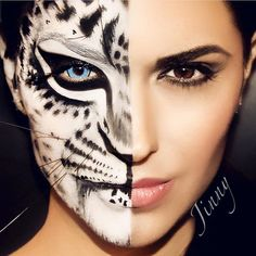 "The woman behind the beast  aka ""Paradise Makeup AQ""is called @jinnymakeup   #jinnyMakeup #cocreator #mehronmakeup #faceandbodymakeup #bodypaint #facepaint #celebreprohd #mehronface Gorgeous model @gypsysin #mehrongirl  Photo by @jackiegallardophoto"