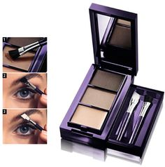 The One Eyebrow kit Compact kit has everything you need to expertly shape and define your eyebrows. Contains 2 bendable brow shades a setting wax and 2 angled brushes only Oriflame Beauty Products, Oriflame Cosmetics, Makeup Art, Eye Makeup, Makeup Shop, Eyebrow Kits, Skin Secrets, Skin Spots, Online Shopping