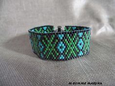 Ethnic chic Cuff Bracelet woven with Miyuki beads gray and Ethnic Chic, Cuff Bracelets, Belt, Trending Outfits, Unique Jewelry, Handmade Gifts, Beadwork, Comme, Etsy