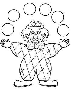 Coloring harlequin clown juggler drawn by nounoudunord Circus Crafts, Carnival Crafts, Dot Painting, Painting For Kids, Art For Kids, Circus Birthday, Circus Theme, Coloring For Kids, Coloring Pages