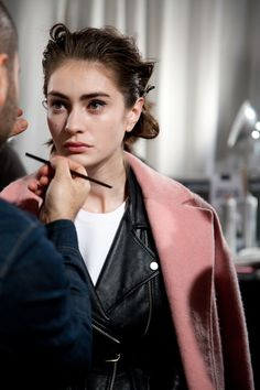 Backstage at the Rag & Bone Fall 2014 show. See more about the show's beauty look here.