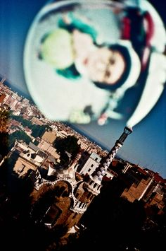 ▲▲▲Travel with me   Double exposure by Lca+   Parc Güell, Barcelona, Spain x Daji