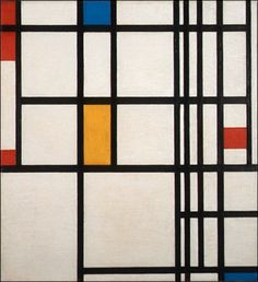 Piet Mondrian - Composition in Red, Blue, and Yellow #painting
