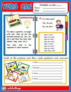 ENGLISH STEP BY STEP - 5TH & 6TH GRADERS - Teach English Step By Step Can Verb, Daily Routine Worksheet, Present Continuous Worksheet, Color Flashcards, Weather Worksheets, Job Pictures, Adjective Worksheet, Class Displays, Vocabulary Cards