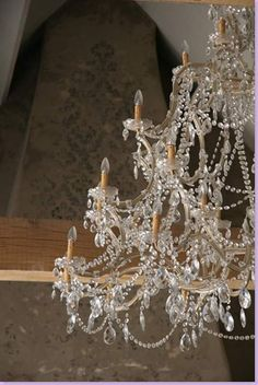 I love light and thinks that sparkle - wouldn't this fill the bill nicely!    via cotedetexas.blogspot.com