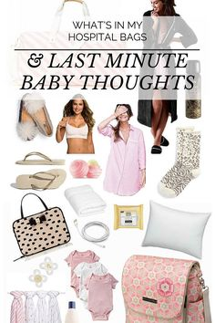 What's In My Hospital Bags & Last Minute Baby Thoughts | Mint Arrow