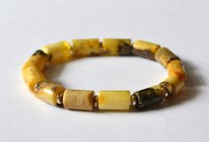 Amber Mens Bracelet Amber Men's Jewelry by KARUBA on Etsy