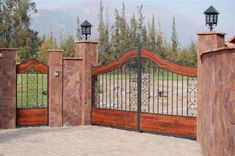 Tor Design, Gate Design, Design Case, House Design, Design Design, Front Gates, Entrance Gates, Garden Retaining Wall, Driveway Entrance