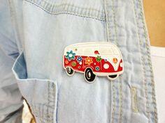 Hippie bus brooch Volkswagen Van VW Camper by MyFunnyThings, $12.00