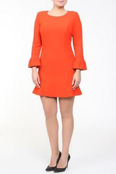 расклешенное приталенное короткое платье из трикотажа, оранжевого цвета Dresses, Fashion, Gowns, Moda, Fashion Styles, Dress, Vestidos, Fashion Illustrations, Gown