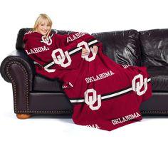 Oklahoma Sooners Comfy Throw - Stripes Series