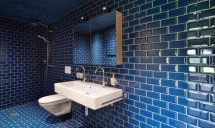 Image 20 of 48 from gallery of Renovation House Lendenmann / Architekten. Photograph by Sabrina Scheja Gaudi, Blue Tiles, Swiss Alps, Historic Homes, Modern Bathroom, Home And Family, Architecture, Gallery, House