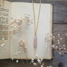 "322 Likes, 6 Comments - @owlandwallflower on Instagram: ""Wire wrapped rose quartz pendant (just one left!) available in Owl and Wallflowers Etsy store (…"""